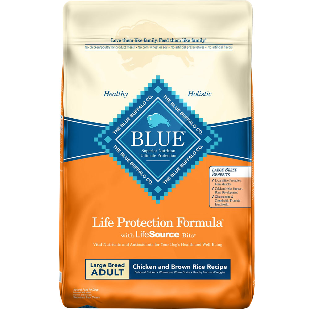 Blue Buffalo Chicken &amp; Brown Rice Large Breed Recipe for Adult Dogs - 30lb
