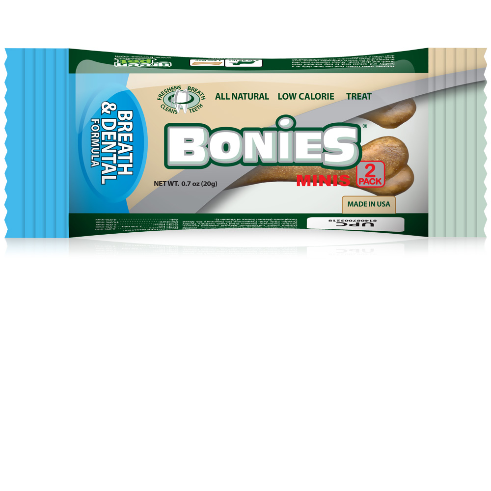 BONIES Natural Dental Formula MINIS 2 BONE PACK (0.7 oz)
