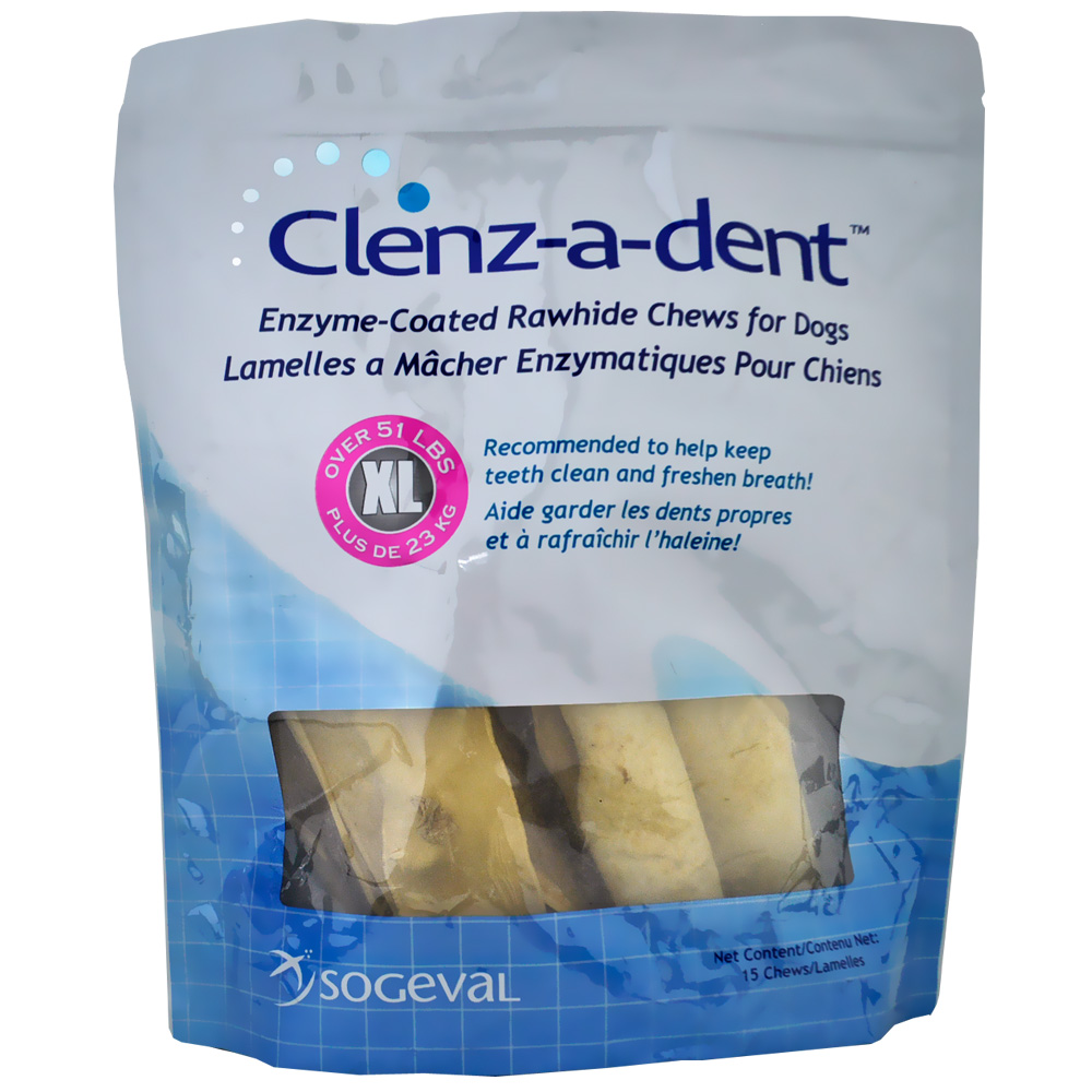 Clenz-a-dent Rawhide Chews for Dogs - XLarge (15 ct)