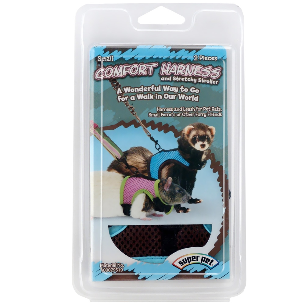 SuperPet Comfort Harness & Stretchy Leash Small