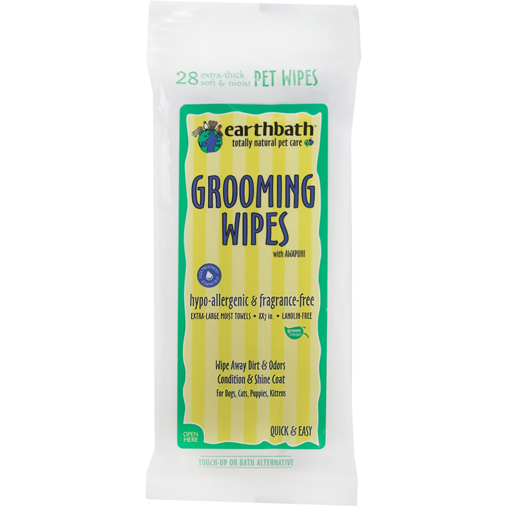 Earthbath Hypo-allergenic Grooming Wipes (28 ct)