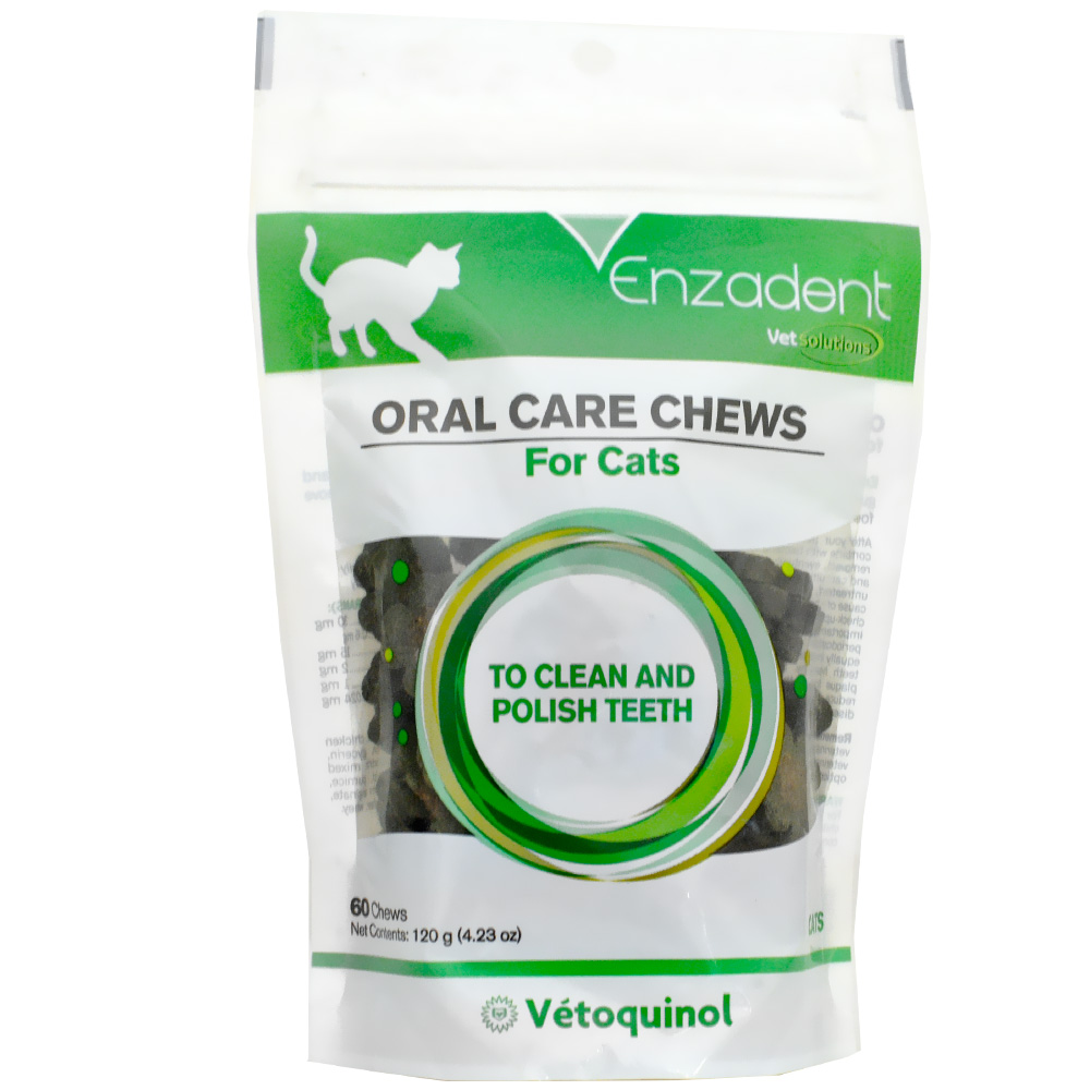 Vet Solutions Enzadent Oral Care Chews for Cats Fish Flavor (60 count)