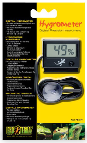 Exo Terra Digital Hygrometer w/Probe