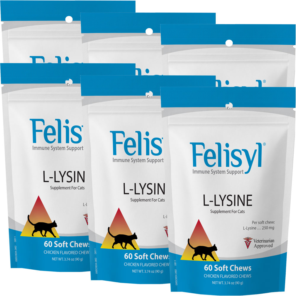 6-PACK Felisyl Immune System Support (360 Soft Chews)