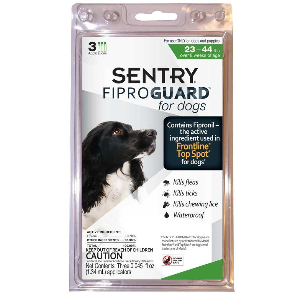 Fiproguard Flea & Tick Squeeze-On for Dogs 23-44 lbs, 3-PACK
