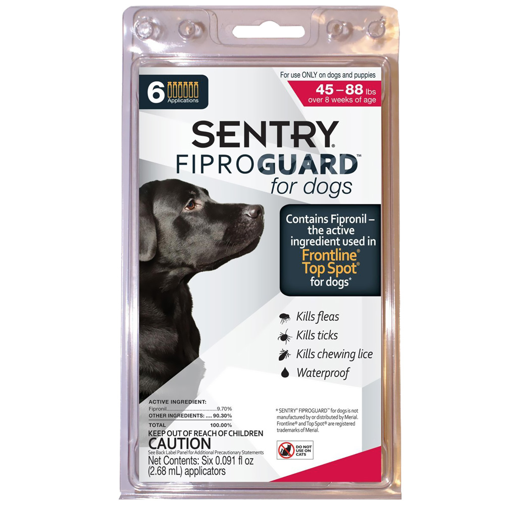 Fiproguard Flea &amp; Tick Squeeze-On for Dogs 45-88 lbs, 6-PACK