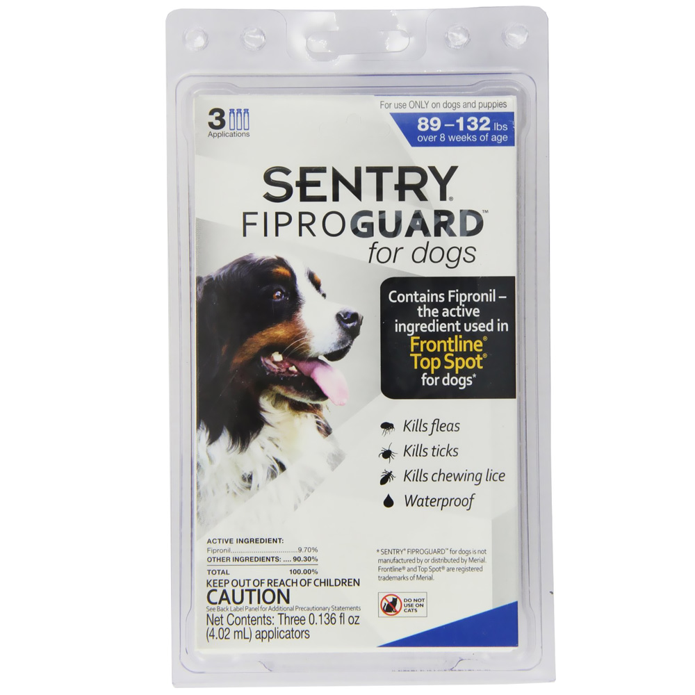 Fiproguard Flea &amp; Tick Squeeze-On for Dogs 89-132 lbs, 3-PACK