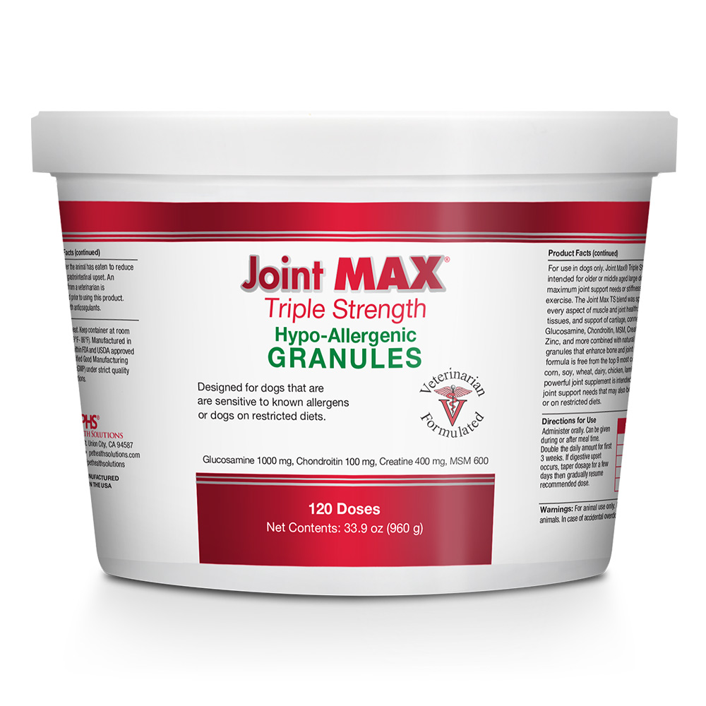 Joint MAX Triple Strength Hypoallergenic Granules (120 Doses)