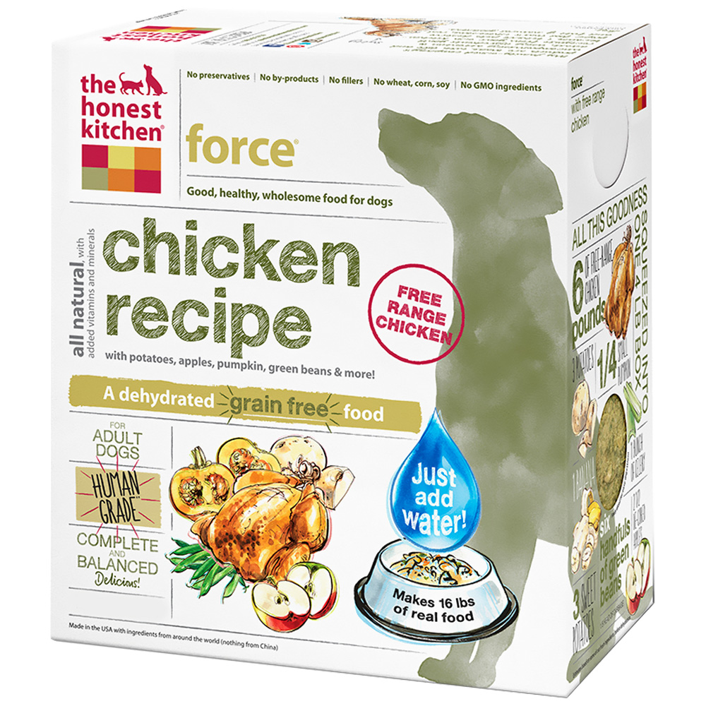 Honest Kitchen Force Dehydrated Grain-Free Chicken Dog Food (10 lbs)