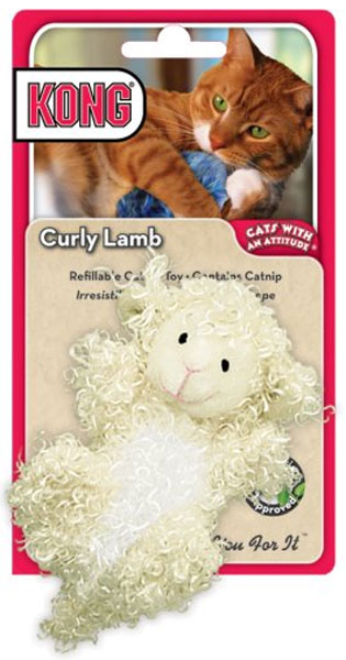 Kong Curly Lamb Catnip Cat Toy