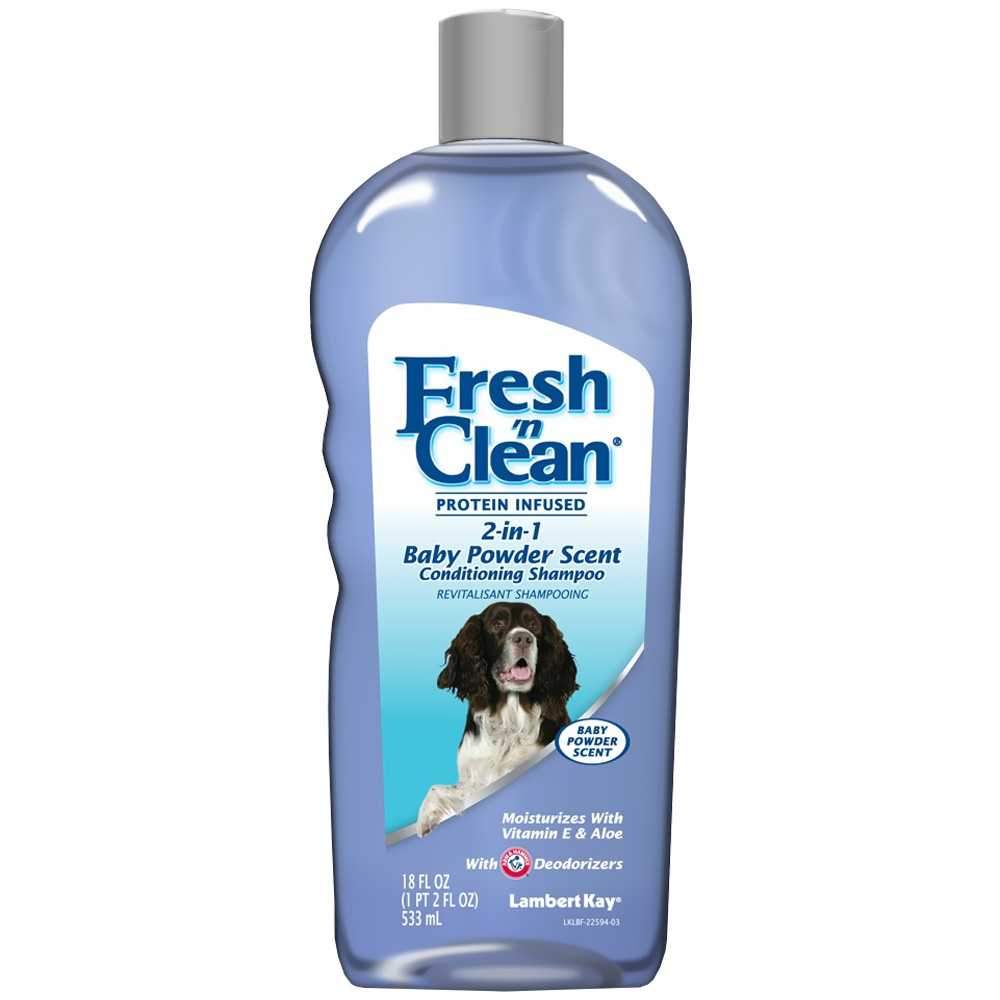 Lambert Kay Fresh 'N Clean 2-in-1 Conditioning Shampoo - Baby Powder Scent (18 oz)