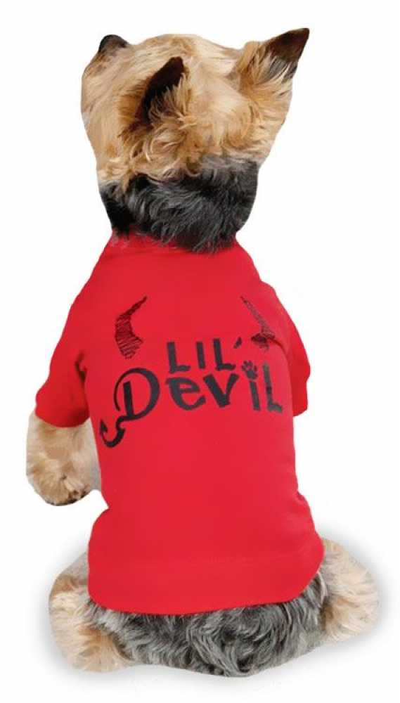 "Zack & Zoey Halloween Lil' Devil Tee Red - S (12"")"