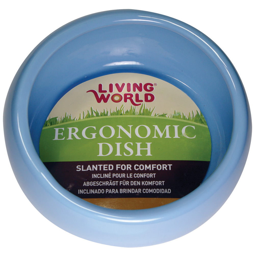 Living World Ergonomic Dish Blue - Small
