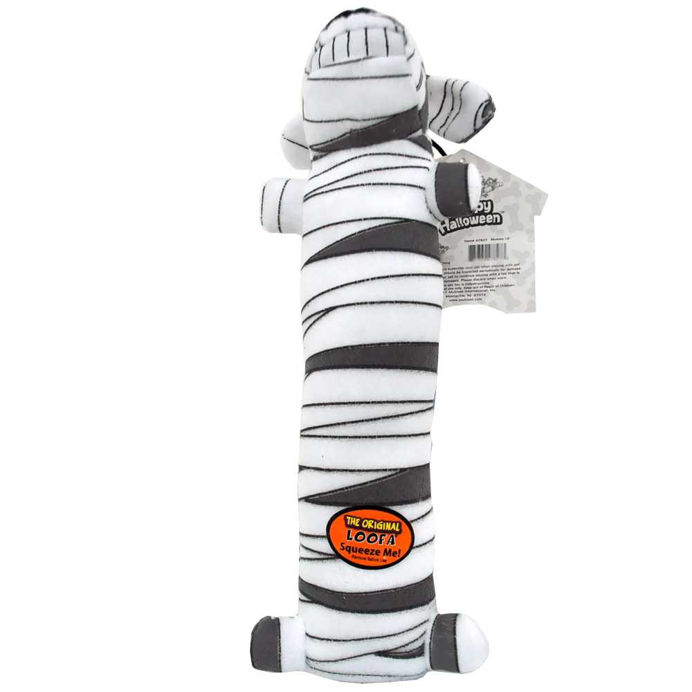 "Multipet Halloween Large Loofa 18"" - Mummy"