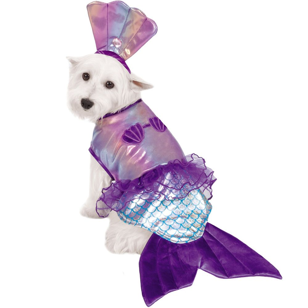 Casual Canine Glim-Mermaid Costume - MEDIUM