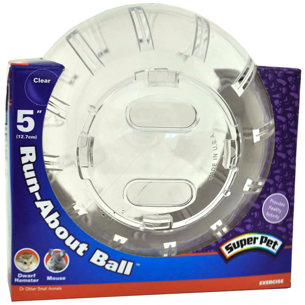 "SuperPet Mini Run About Ball 5"" Clear"