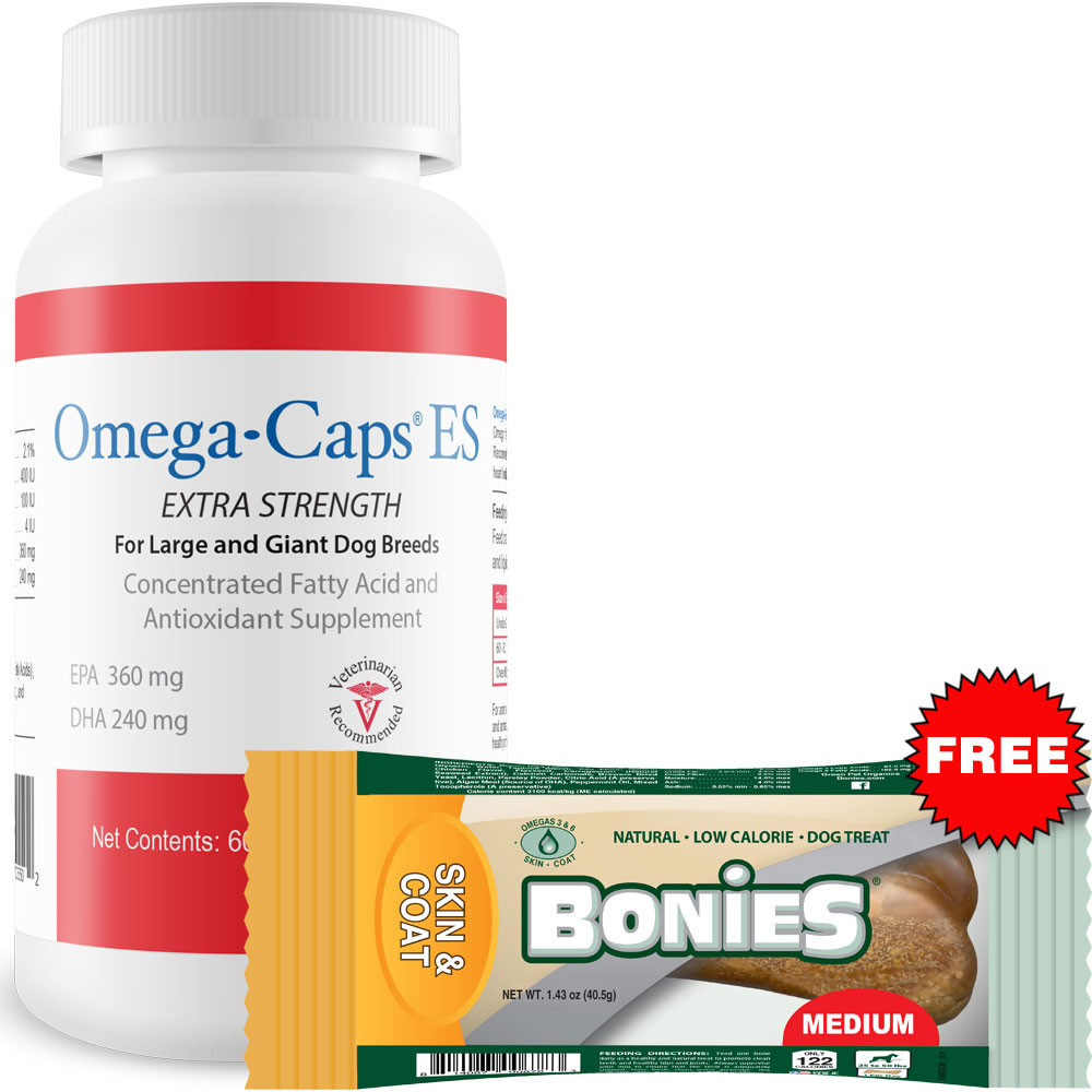 Omega-Caps Extra Strength For Large & Giant Dogs (60 Softgel Capsules)