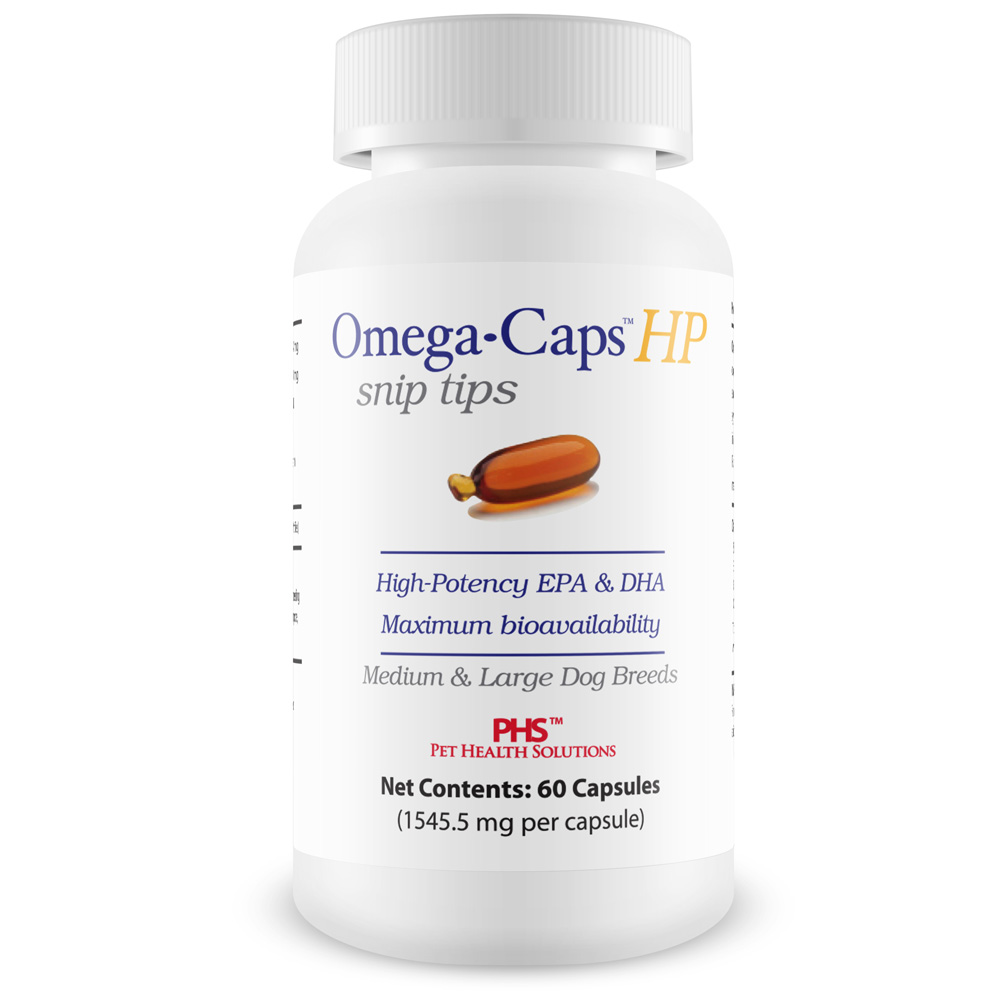 Omega-Caps HP snip tips for Medium & Large Dogs (60 Capsules)