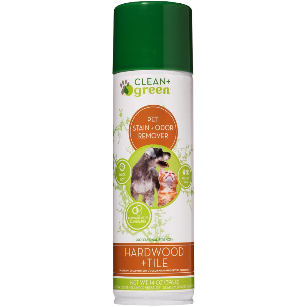 Clean & Green Wood & Tile Odor Eliminator, Cleaner and Stain Remover for Cats (16 oz)