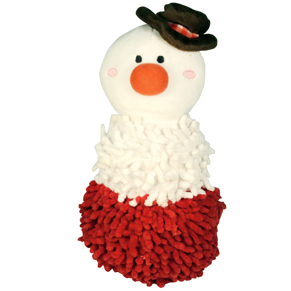 Dogit Shaggy Plush Snowman