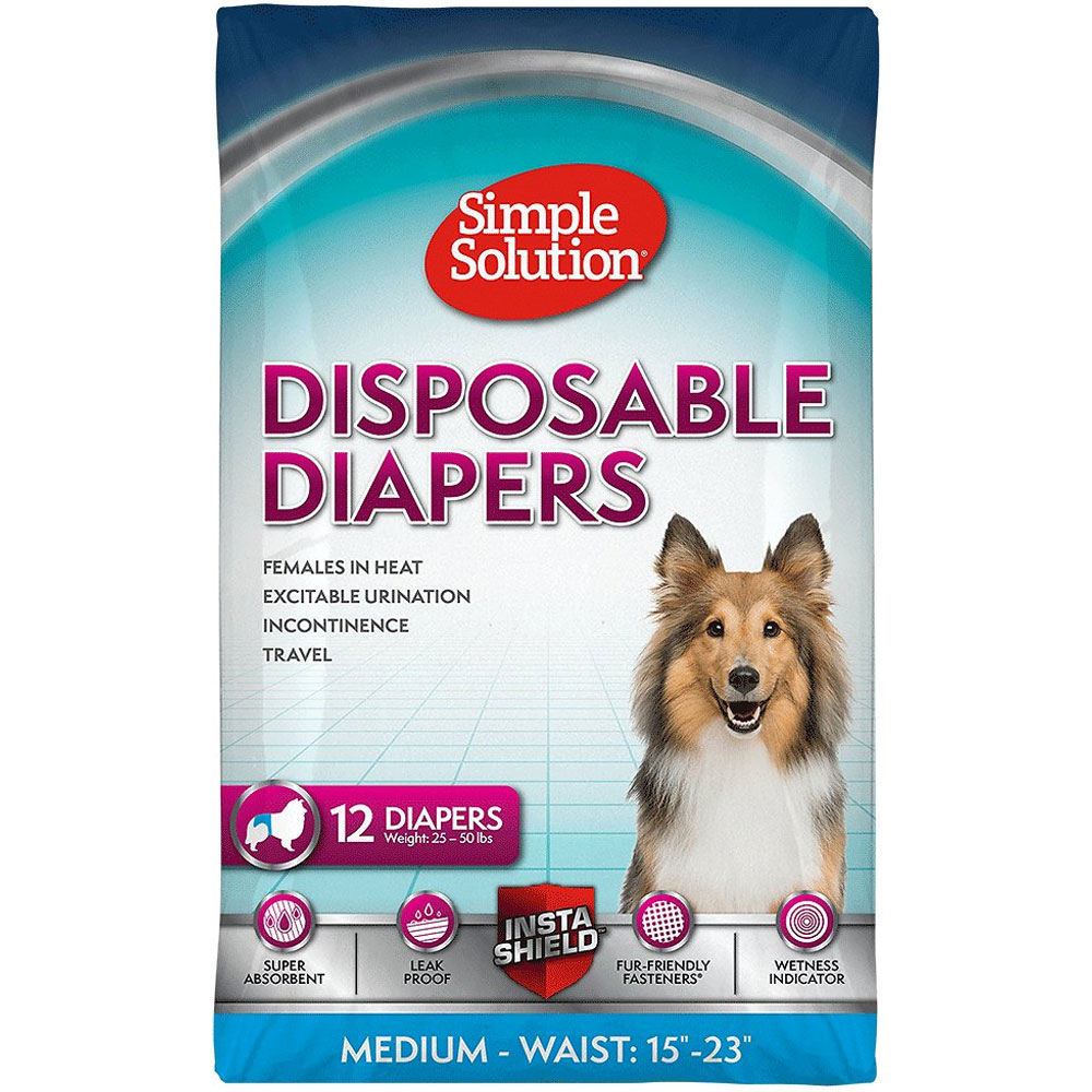 Simple Solution Diapers M (12 Diapers)