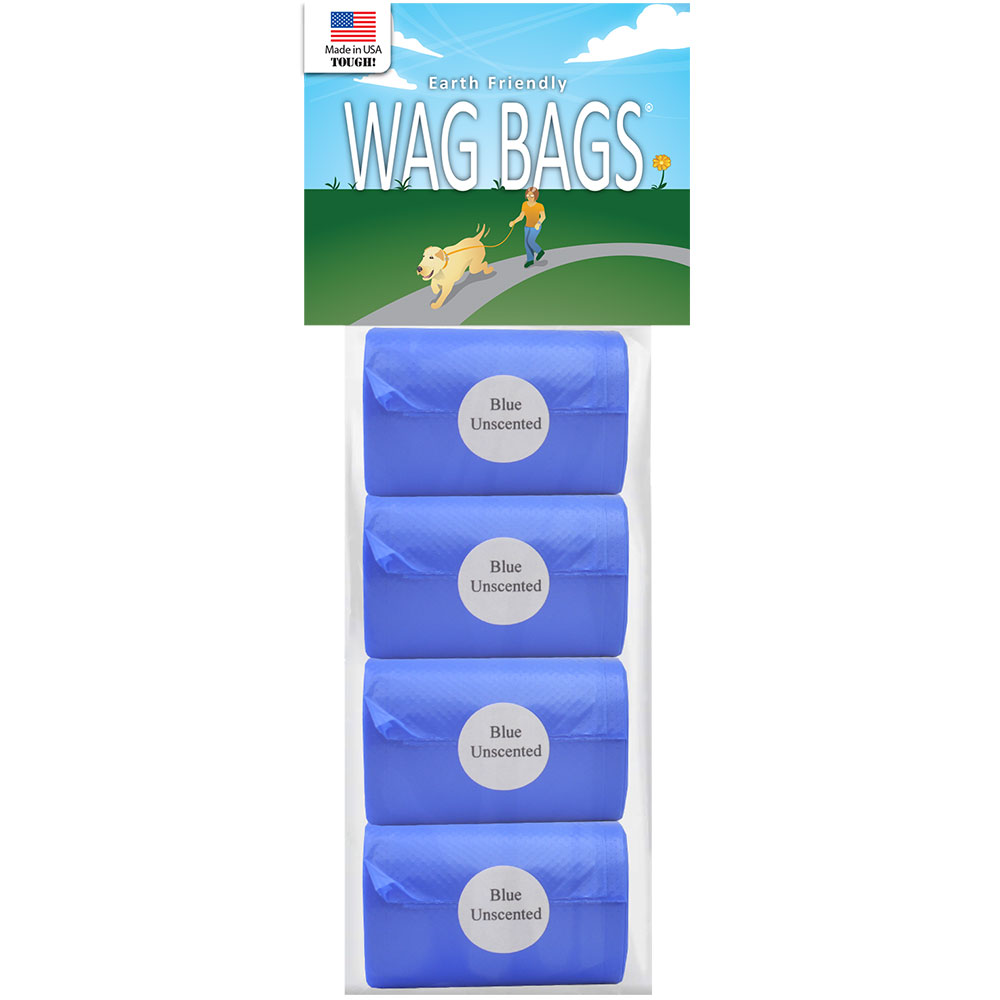 Wag Bags Refill BLUE - UNSCENTED (60 Bags)