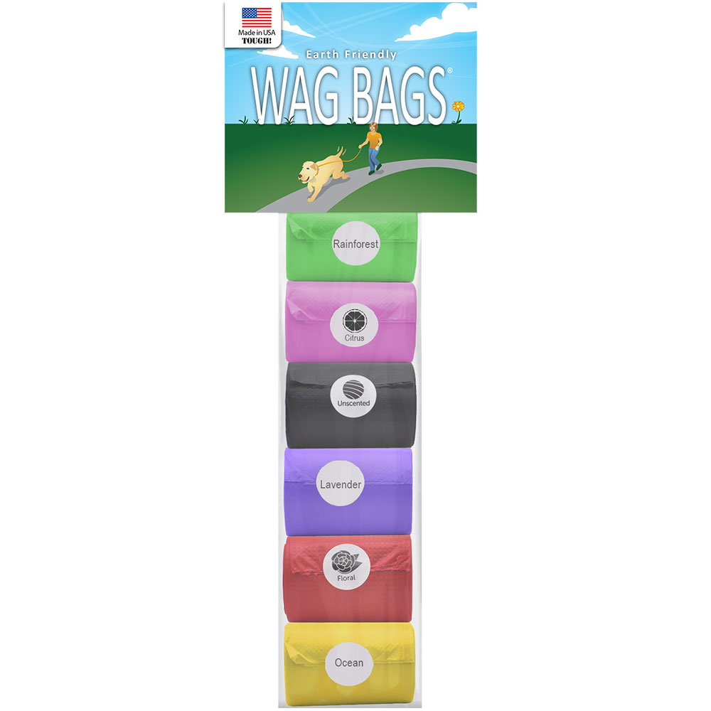 Wag Bags Refill RAINBOW - SCENTED (90 Bags)