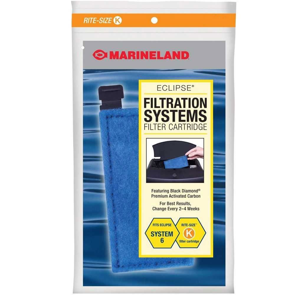 Marineland Eclipse Filtration Systems Filter Cartridges Rite-Size K (3 pk)