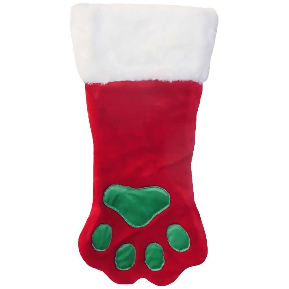 Plush Puppies Red Holiday Stocking - Small