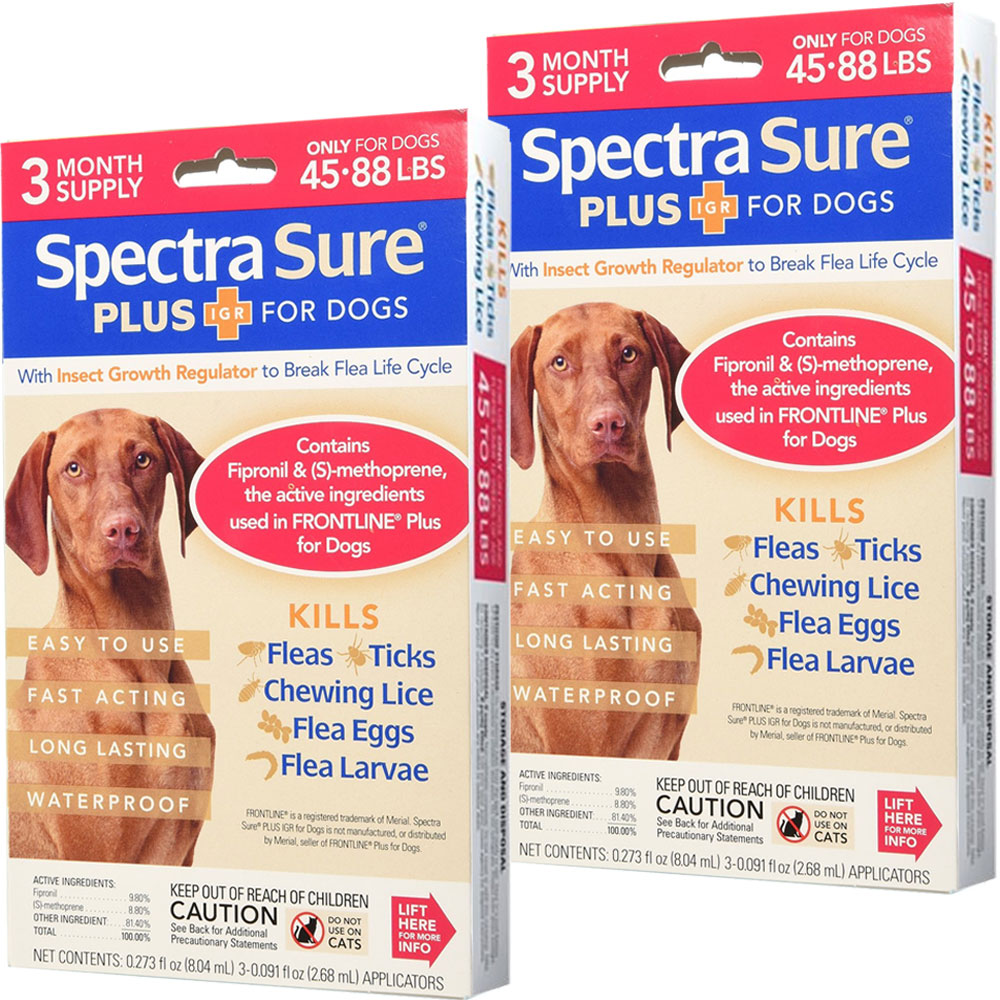 6 MONTH Spectra Sure Plus IGR for Dogs 45-88 lbs