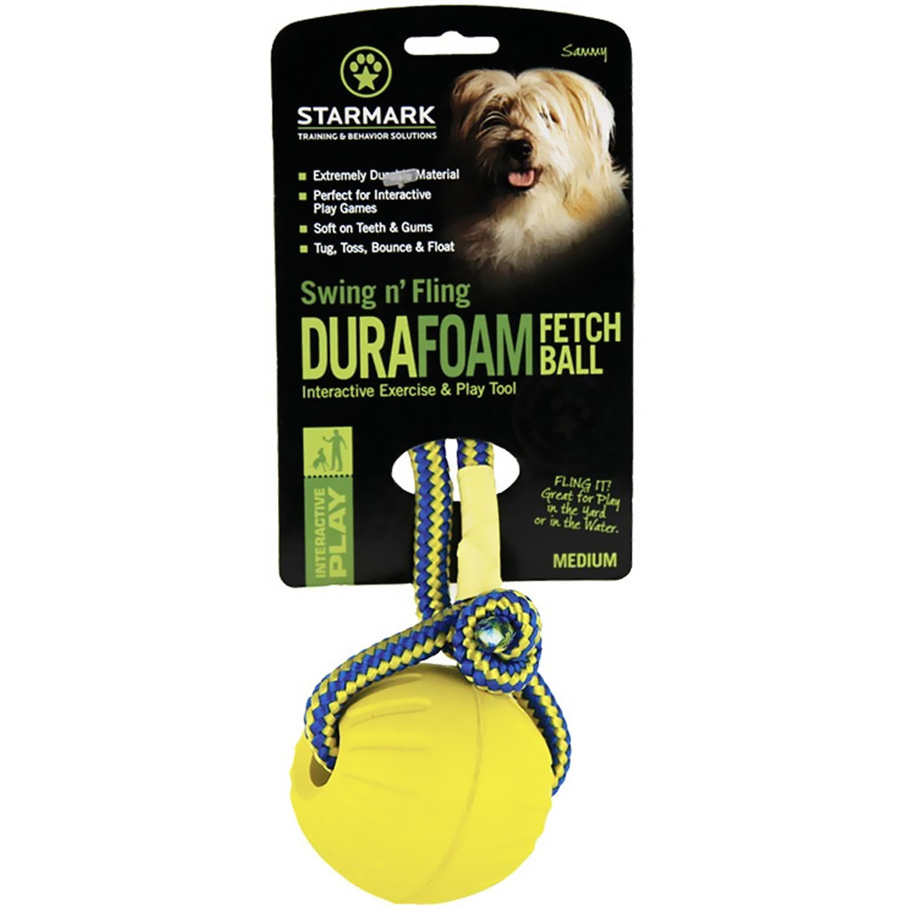 Starmark Swing & Fling DuraFoam Fetch Ball - Medium