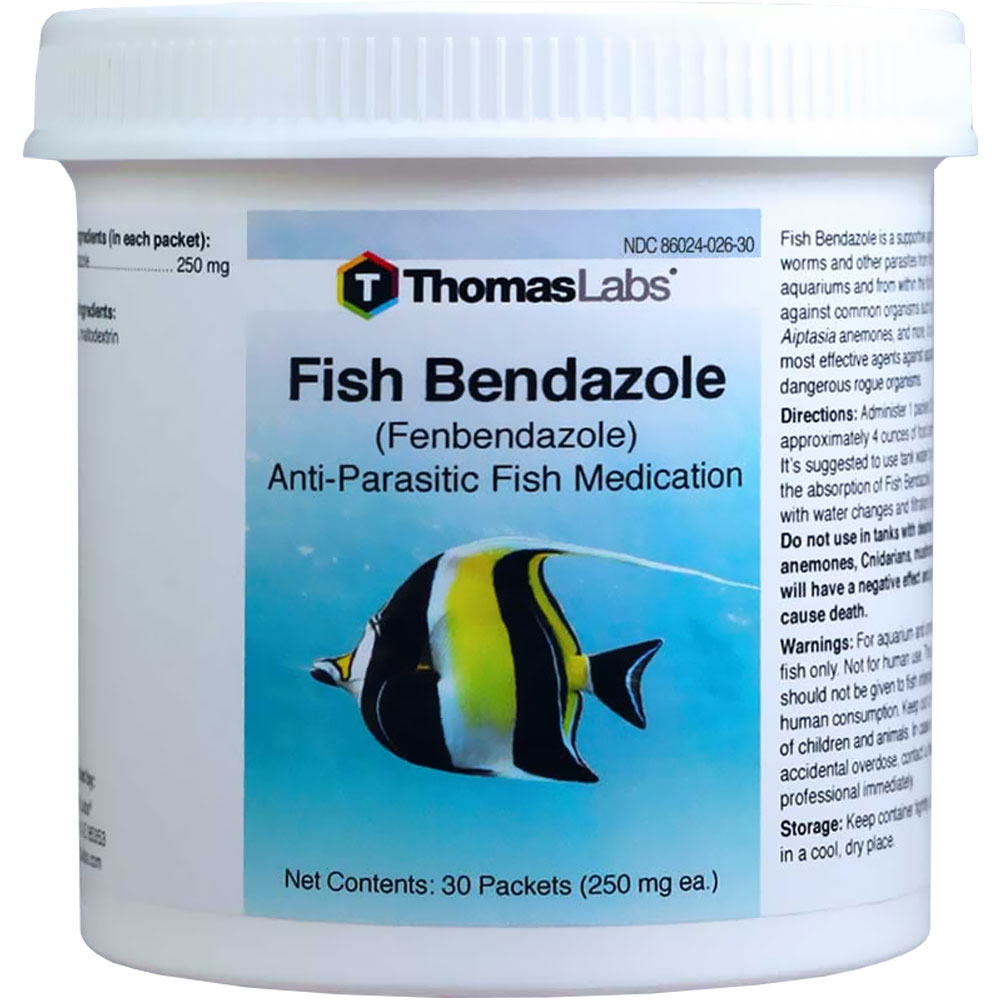 Thomas Labs Fish Bendazole 250mg - Fenbendazole Powder (36 packets)