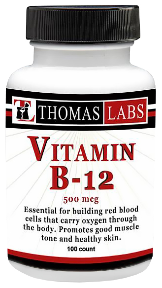 Thomas Labs Vitamin B-12 500mcg (100 count)
