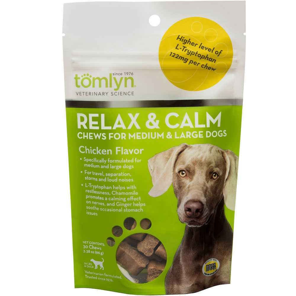 Tomlyn Relax & Calm Chicken Liver Chews for Dogs (45 chews)