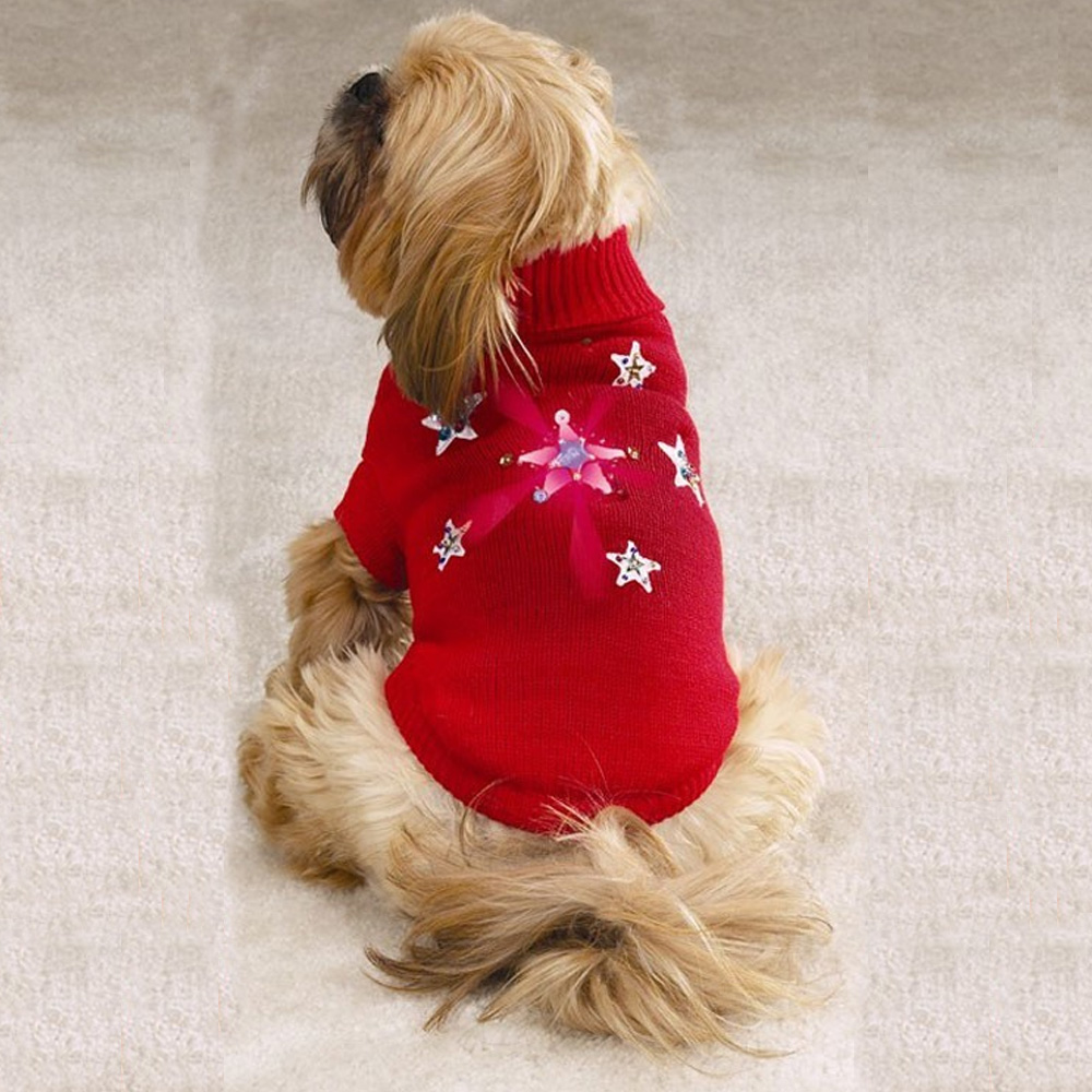 Zack &amp; Zoey Twinkling Star Sweater Red