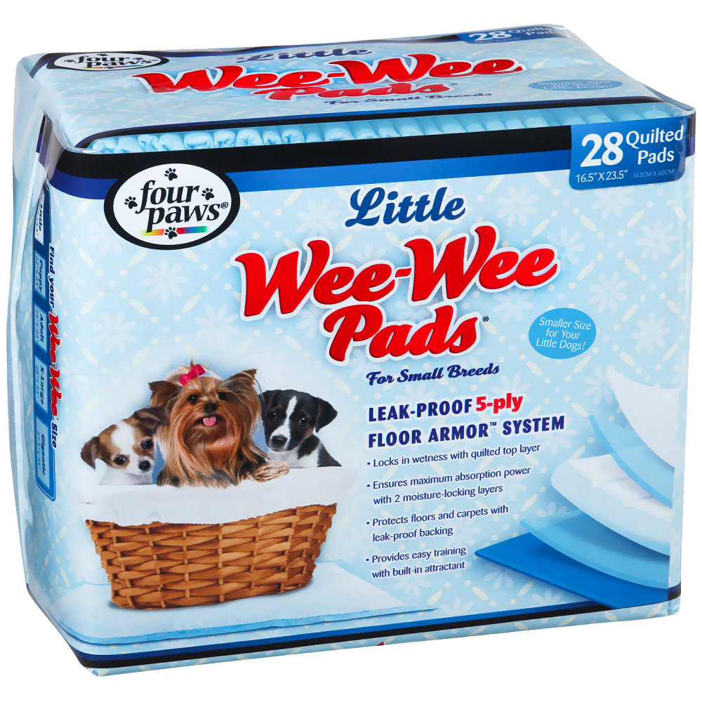 Four Paws Wee-Wee Pads for Little Dogs (28 pads)