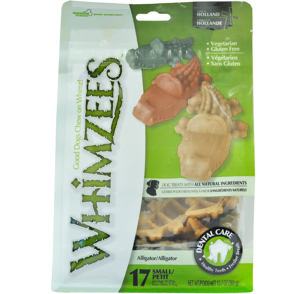 Whimzees Alligator Dental Dog Treats - Small (24 count)