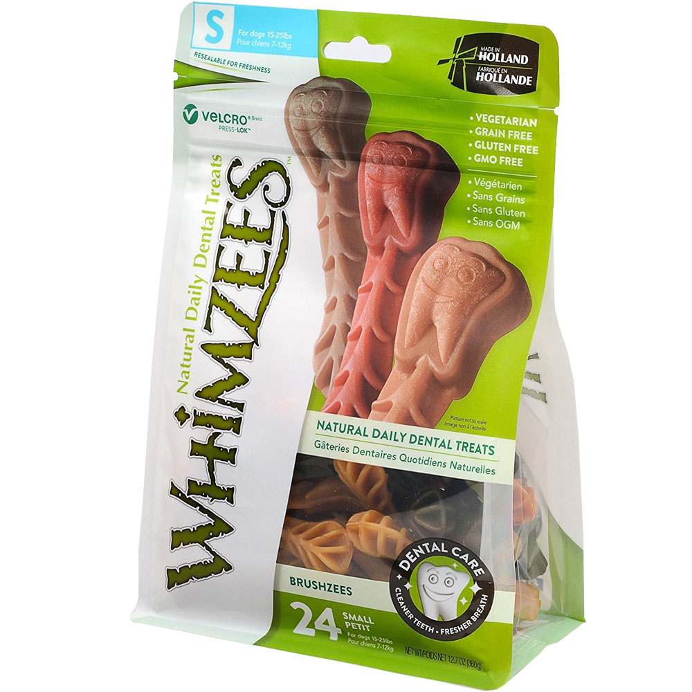 Whimzees Toothbrush Dental Dog Treats - Small (27 count)