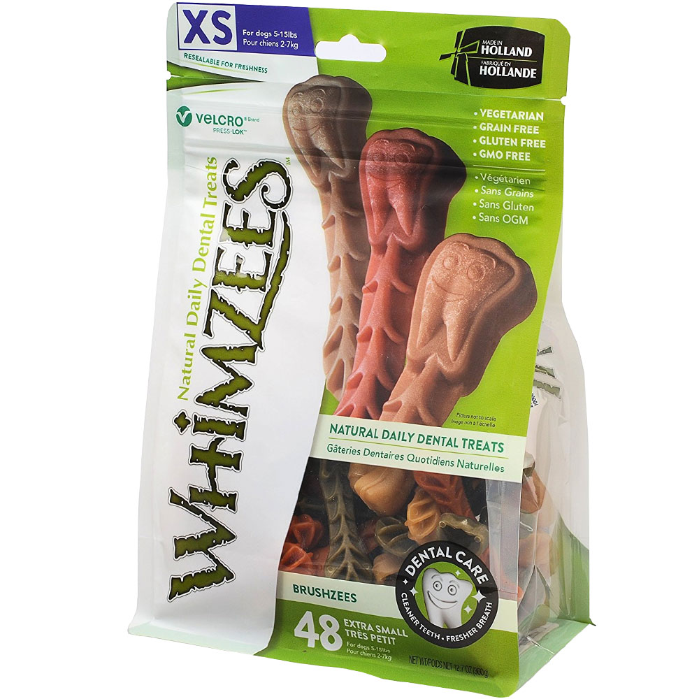 Whimzees Toothbrush Dental Dog Treats - X-Small (49 count)
