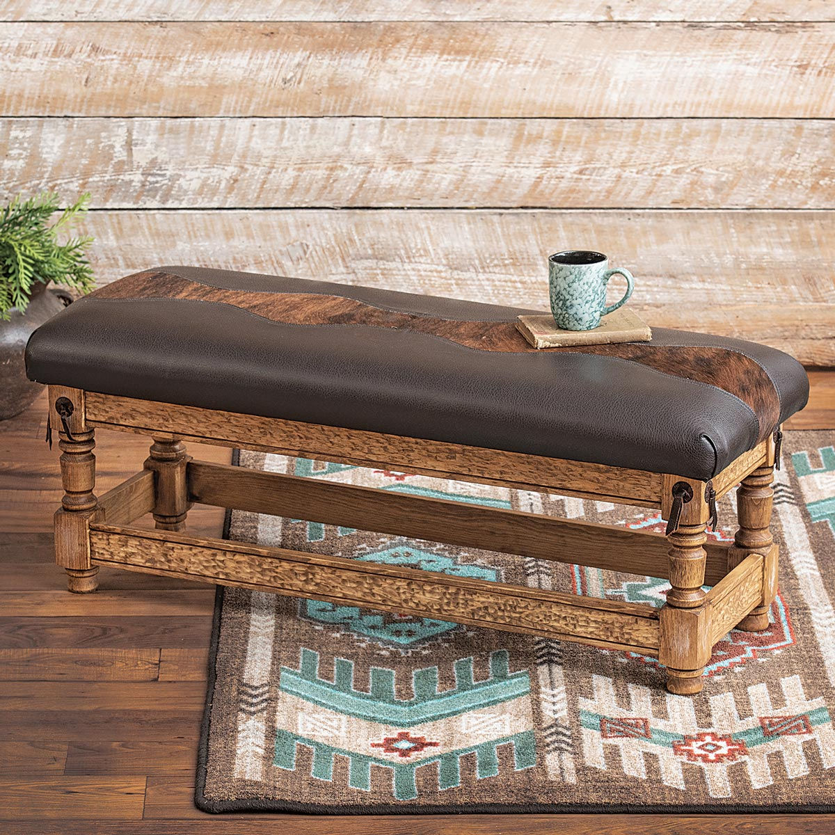 Lone Star Western Decor Chaps bench - large
