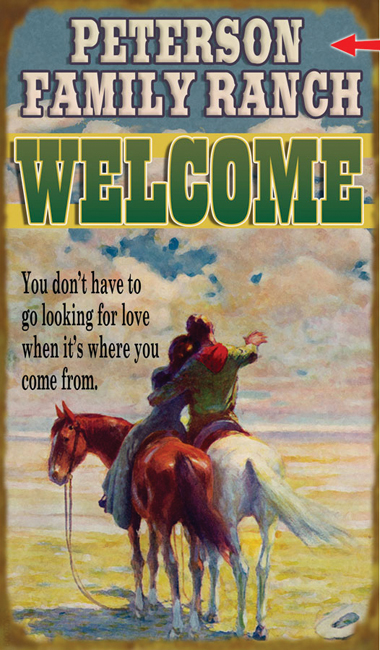 Lone Star Western Decor Western welcome sign - 23 x 39