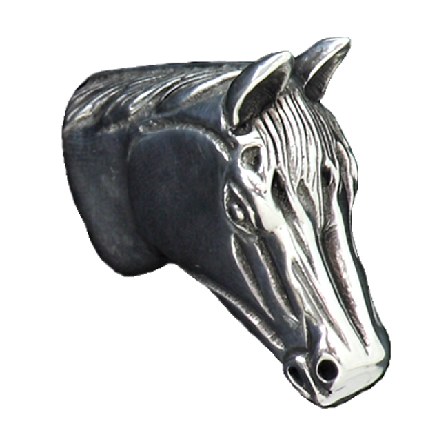 Lone Star Western Decor Horse pewter cabinet knob - large