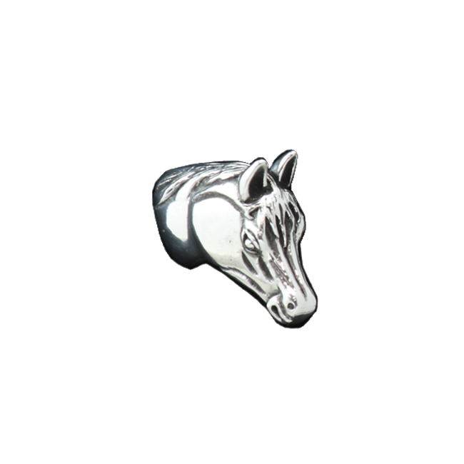 Lone Star Western Decor Horse pewter cabinet knob - small