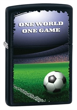 One World One Game Black Matte Zippo Lighter - ID# 28301