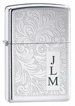 Venetian High Polish Chrome Zippo Lighter