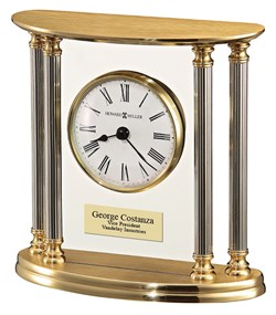 Personalized New Orleans Solid Brass Table Clock by Howard Miller