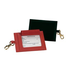 The Big Tag Leather Luggage Tag by Royce