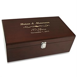 Anniversary Gift Double Bottle Wine Presentation Box with Tools
