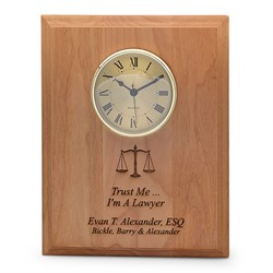 Trust Me. I'm A Lawyer Wall Clock Plaque