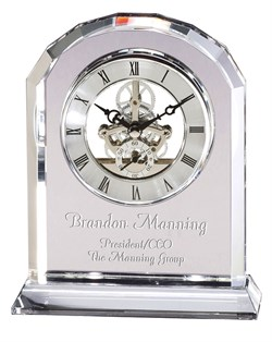 Solid Crystal Personalized Quartz Clock With Arched Top